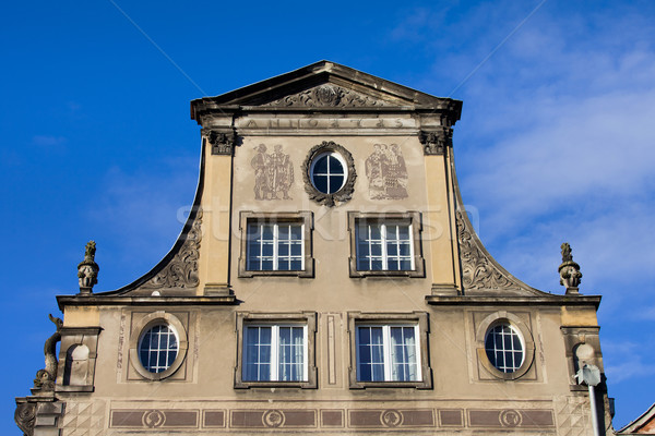 Old House Roofline in Gdansk Stock photo © rognar