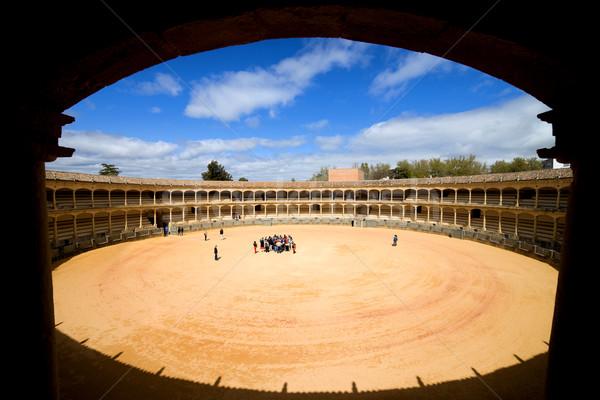 Aréna kinyitott kilátás auditórium egy híres Stock fotó © rognar