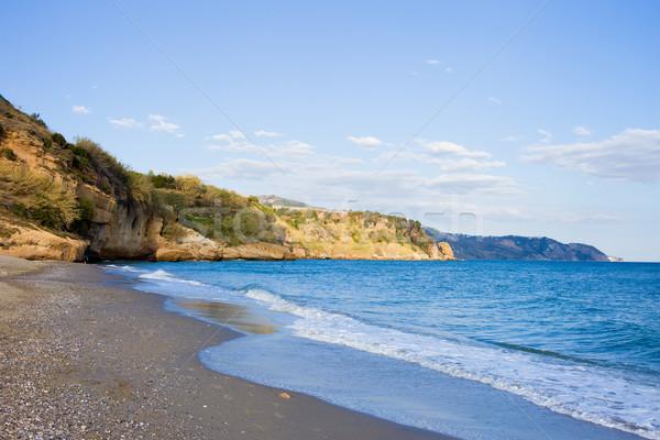 ストックフォト: ビーチ · アンダルシア · 地域 · マラガ · 自然 · 青
