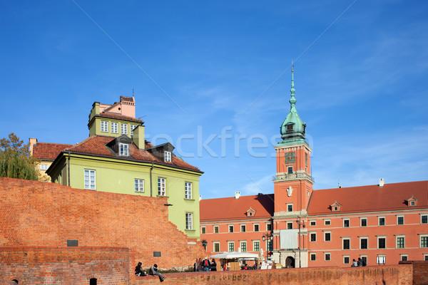 Photo stock: Vieille · ville · Varsovie · Pologne · royal · château