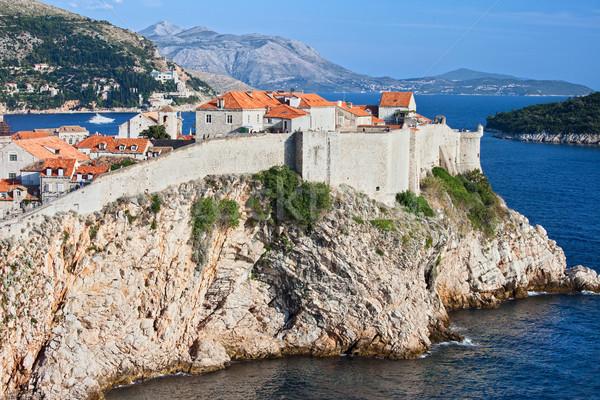 古い 市 ドゥブロブニク クロアチア 高い 崖 ストックフォト © rognar