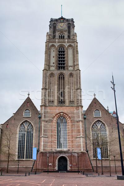 Kilise rotterdam Gotik stil hollanda şehir Stok fotoğraf © rognar