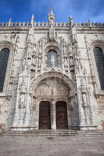 Sur portal monasterio Lisboa estilo Portugal Foto stock © rognar