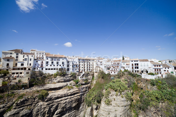 Old City of Ronda in Spain Stock photo © rognar