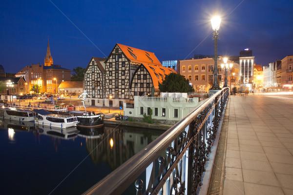 Bydgoszcz Night Cityscape in Poland Stock photo © rognar