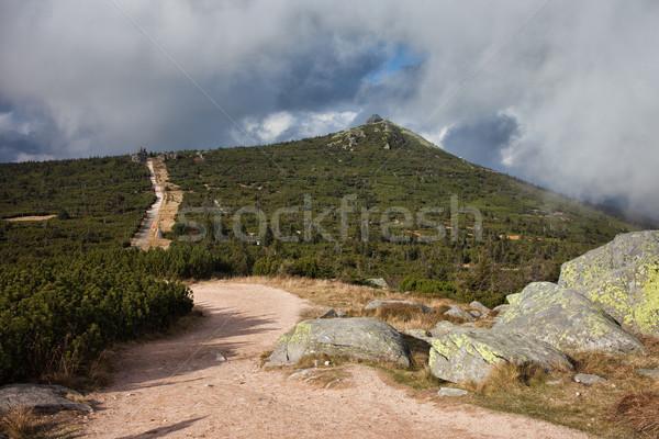 Parcours berg grens Polen Tsjechische Republiek bergen Stockfoto © rognar