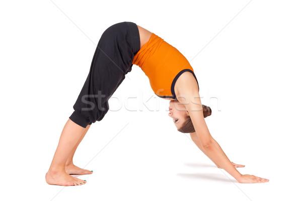 Fit Young Woman Practicing Yoga Asana Stock photo © rognar