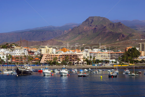 Tenerife cityscape Resort ville Espagne Photo stock © rognar