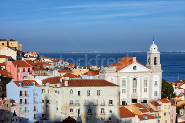 Alfama District in Lisbon Stock photo © rognar