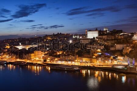 город ночь Португалия Skyline отражение реке Сток-фото © rognar