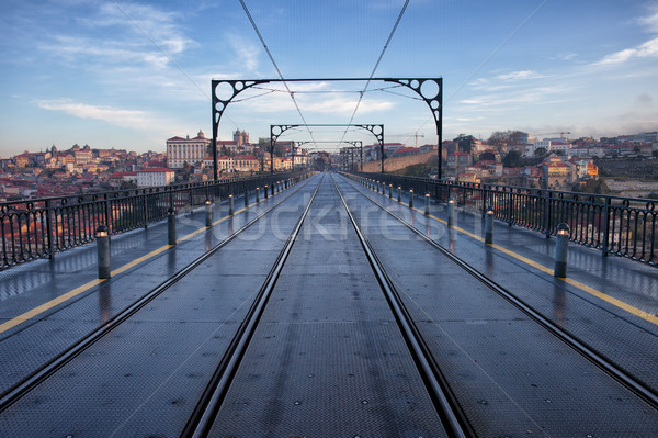 Dom Luiz I Bridge in Porto Stock photo © rognar