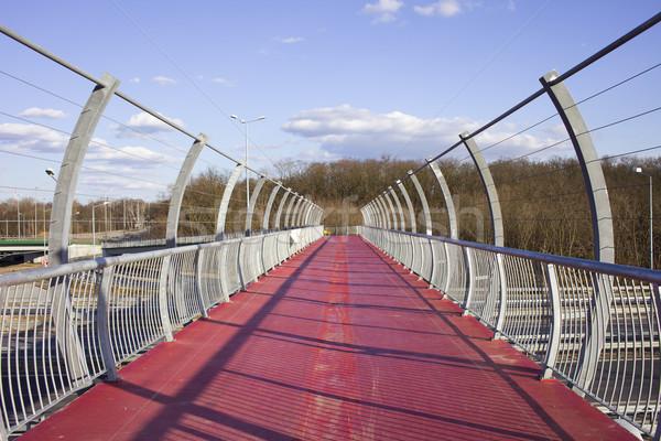 Yaya köprüsü otoyol yaya bisiklet ayak köprü Stok fotoğraf © rognar