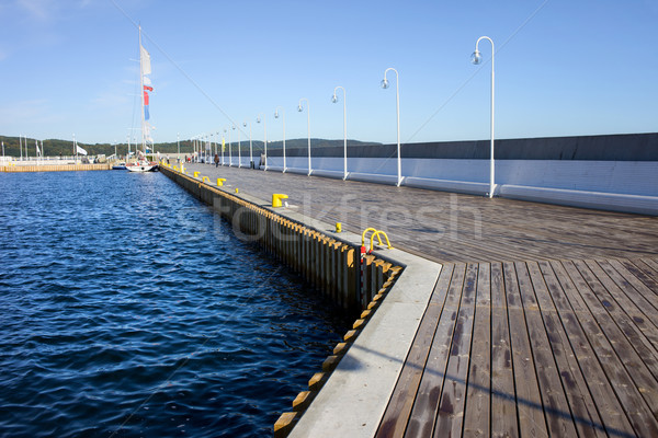 Marina mer pier longtemps bois Photo stock © rognar