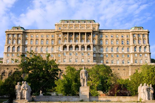 Buda Castle Facade in Budapest Stock photo © rognar