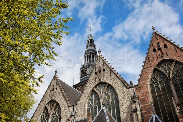 Old Church in Amsterdam Stock photo © rognar