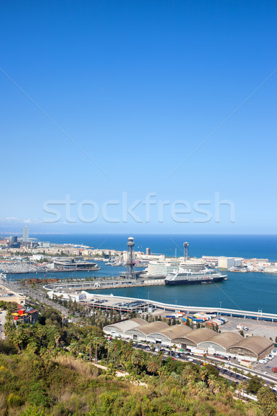 Barcelona Port from Above Stock photo © rognar