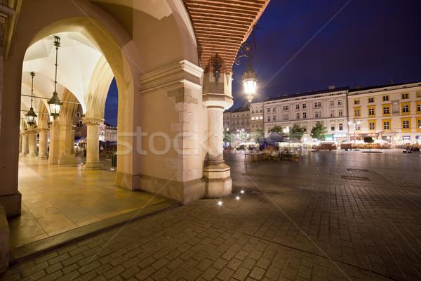 Cracovia barrio antiguo Polonia noche ciudad tela Foto stock © rognar