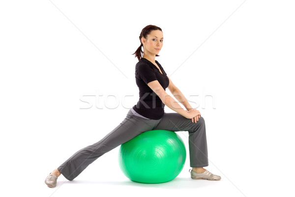Stock photo: Woman doing Pilates Exercise
