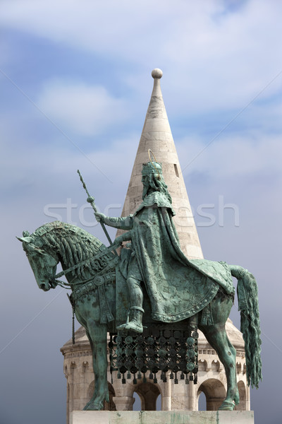 St Stephen's Statue in Budapest Stock photo © rognar