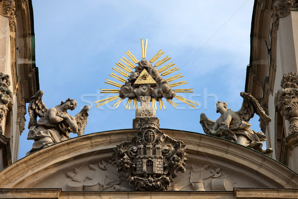 St Anne's Church in Budapest Architectural Details Stock photo © rognar