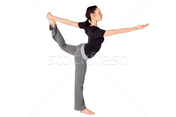 Woman Practicing Yoga Asana Stock photo © rognar