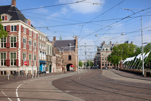Den Haag City Centre in Netherlands Stock photo © rognar