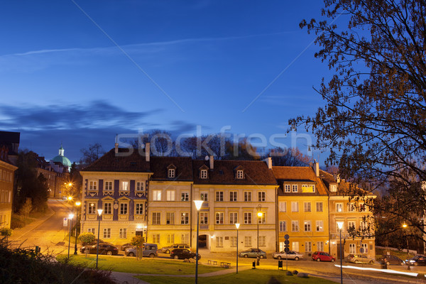 New Town in Warsaw at Night Stock photo © rognar