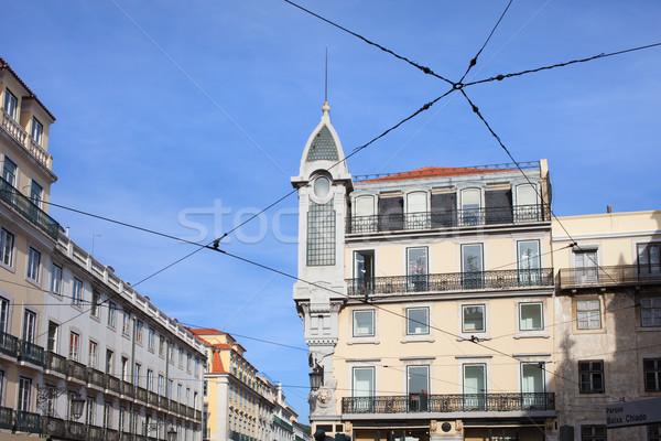 épületek környék Lisszabon Portugália városi építészet Stock fotó © rognar