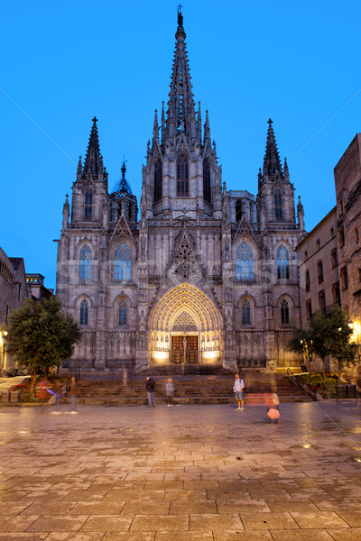 Barcelona Cathedral in the Evening Stock photo © rognar