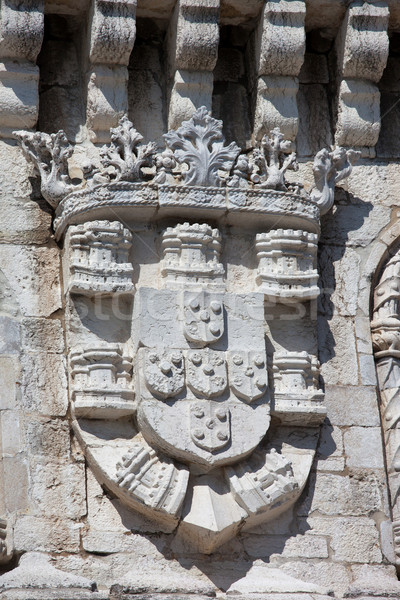 Coat of Arms of King Manuel I at the Belem Tower Stock photo © rognar