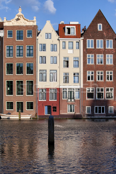 Canal Houses in Amsterdam Stock photo © rognar