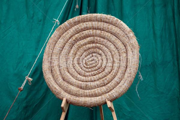 Okçuluk saman hedef geleneksel durmak alan Stok fotoğraf © rognar