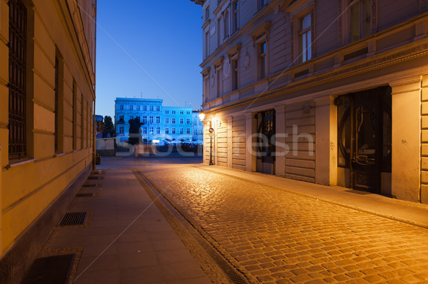 Bydgoszcz Old Town by Night in Poland Stock photo © rognar
