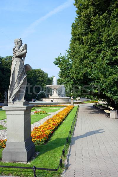 Park Saski in Warsaw Stock photo © rognar