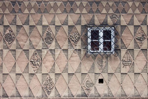 Patrón diseno casa pared rectangular simétrico Foto stock © rognar