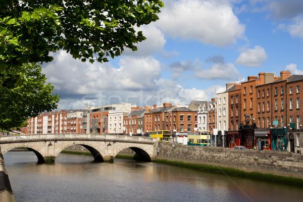 ダブリン 景観 風光明媚な 市 古い 橋 ストックフォト © rognar