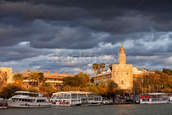 Stock photo: City of Seville at Sunset