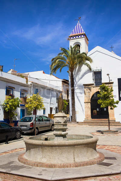 Plaza Santo Cristo in Marbella Stock photo © rognar