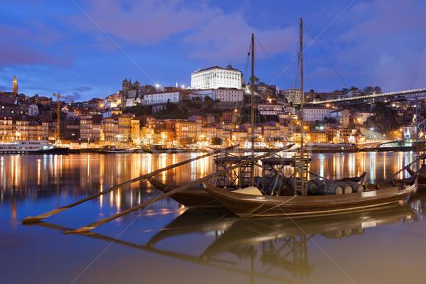 Stockfoto: Nacht · Portugal · stad · traditioneel · vracht · boten