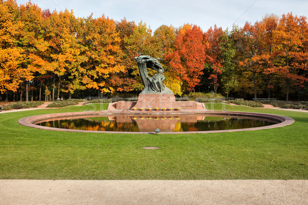Autunno reale giardini Varsavia in giro scenario Foto d'archivio © rognar