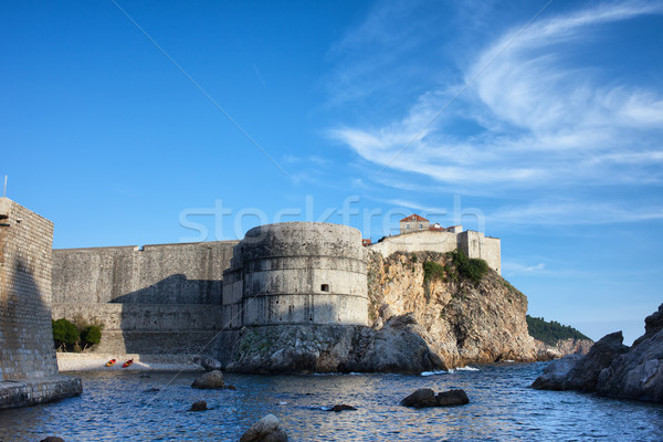 Old Town Fortification of Dubrovnik Stock photo © rognar