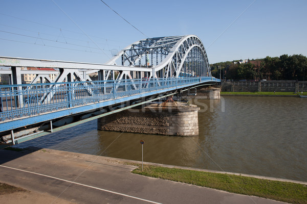 Marshal Jozef Pilsudski Bridge in Krakow Stock photo © rognar