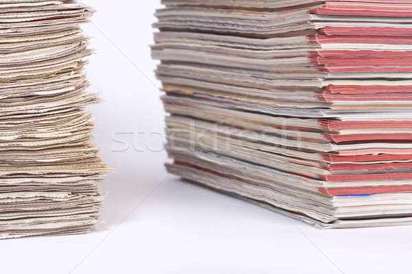 Piles of Magazines and Newspapers Stock photo © rognar