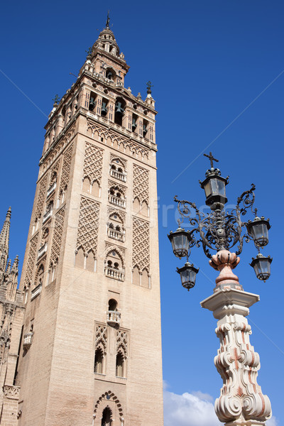 La Giralda Cathedral Tower in Seville Stock photo © rognar