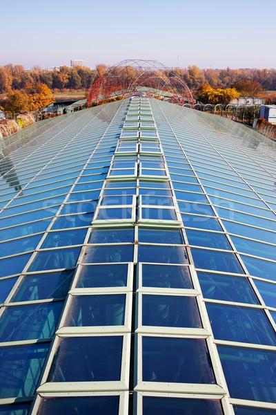 Glas dak Warschau universiteit bibliotheek Polen Stockfoto © rognar
