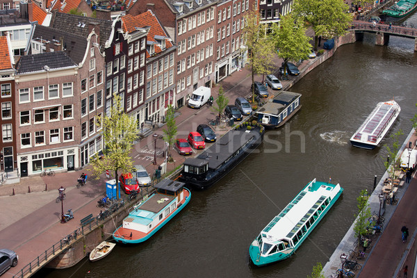 City of Amsterdam in Holland from Above Stock photo © rognar