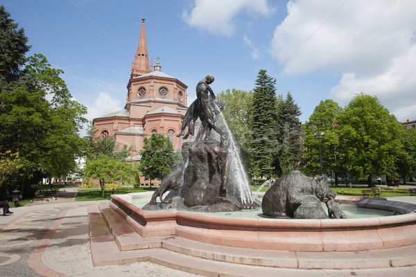 The Deluge Fountain in in Bydgoszcz Stock photo © rognar