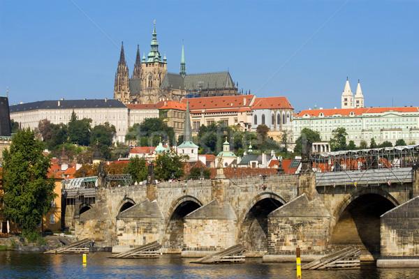 Prague Castle and Charles Bridge Stock photo © rognar