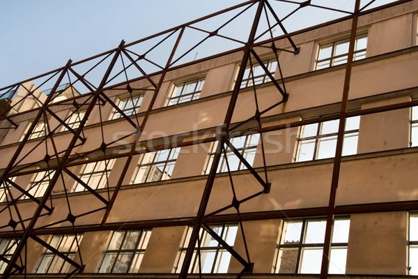 строительная площадка рано строительные леса дома стены Сток-фото © rognar