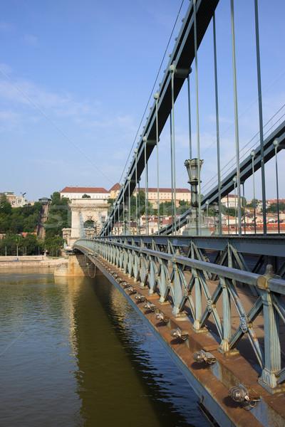 Chain Bridge in Budapest Stock photo © rognar